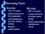 drowning types