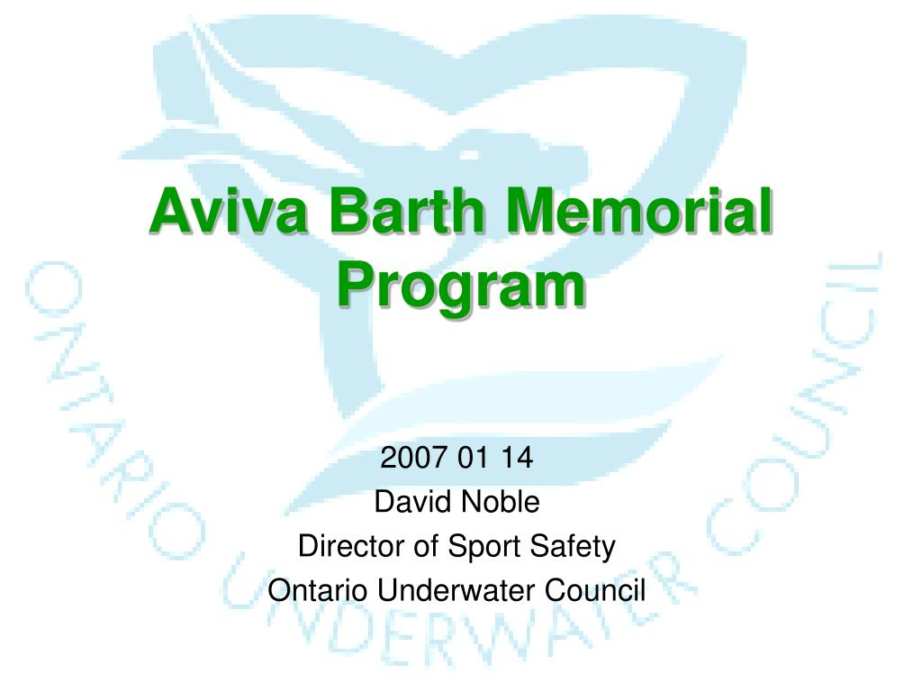 aviva barth memorial program l.
