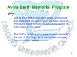 aviva barth memorial program4