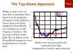 the top down approach
