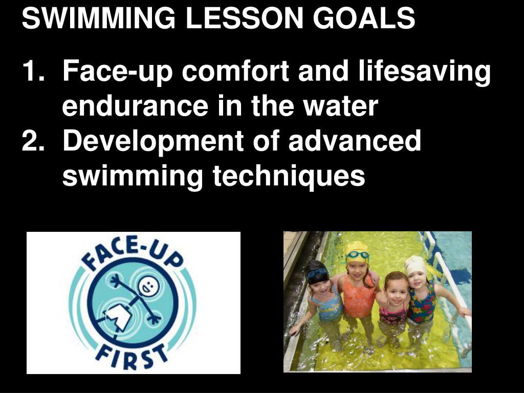 SWIMMING LESSON GOALS