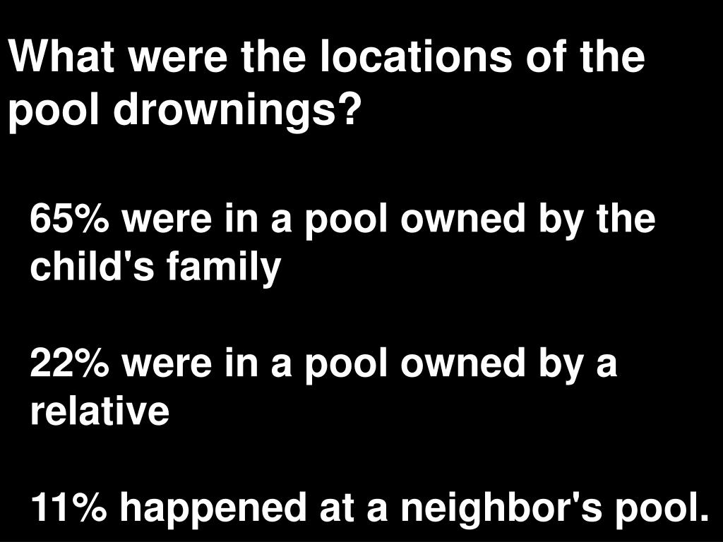 What were the locations of the pool drownings?