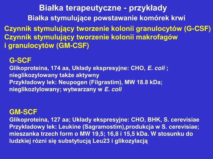 Białka terapeutyczne - przykłady
