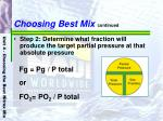 choosing best mix continued42