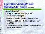 equivalent air depth and standard air tables continued57