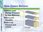 how gases behave