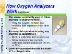 how oxygen analyzers work continued
