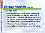 oxygen handling continued67