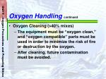 oxygen handling continued69