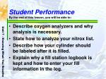student performance by the end of this lesson you will be able to