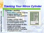 tracking your nitrox cylinder