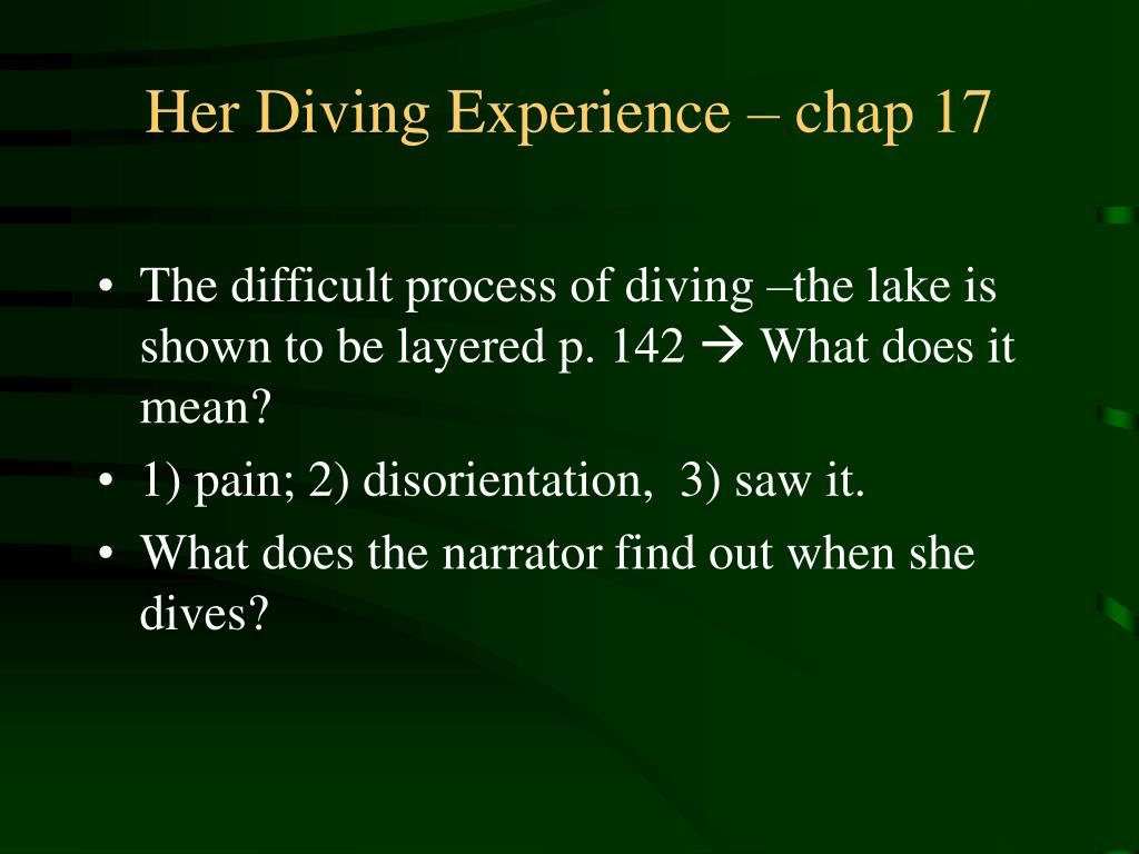 Her Diving Experience – chap 17
