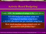 activity based budgeting51