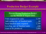 production budget example16