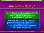 what is controllability