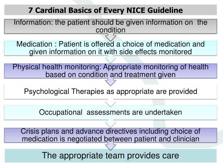 7 Cardinal Basics of Every NICE Guideline