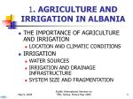 1 agriculture and irrigation in albania