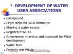 3 development of water user associations