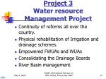 project 3 water resource management project