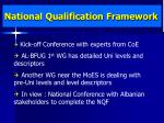national qualification framework
