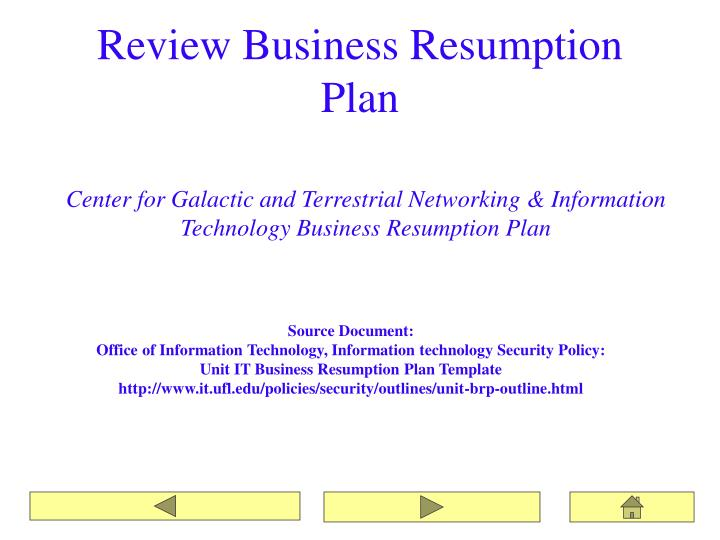 Ppt northeast regional data center business resumption planning review business resumption plan accmission Gallery