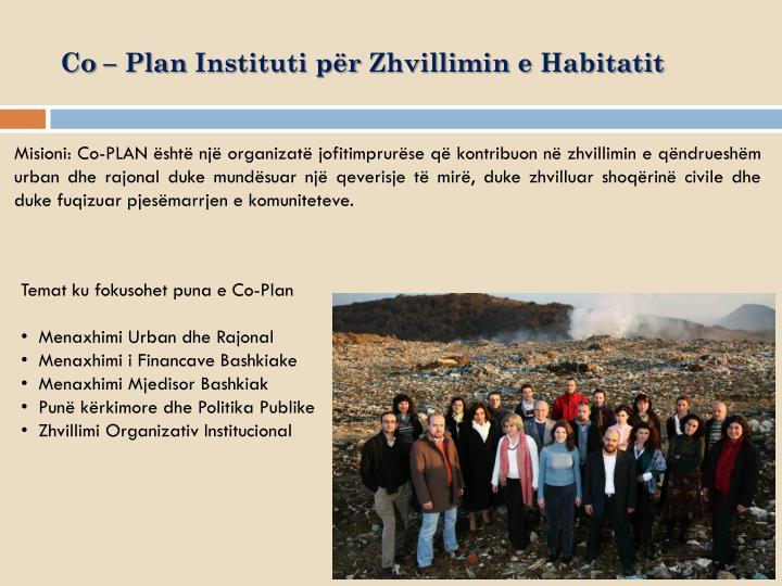 Co plan instituti p r zhvillimin e habitatit