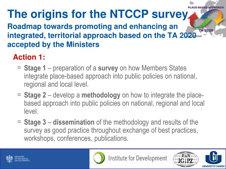 Roadmap towards promoting and enhancing an integrated, territorial approach based on the TA 2020 acc...