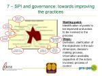 7 spi and governance towards improving the practices