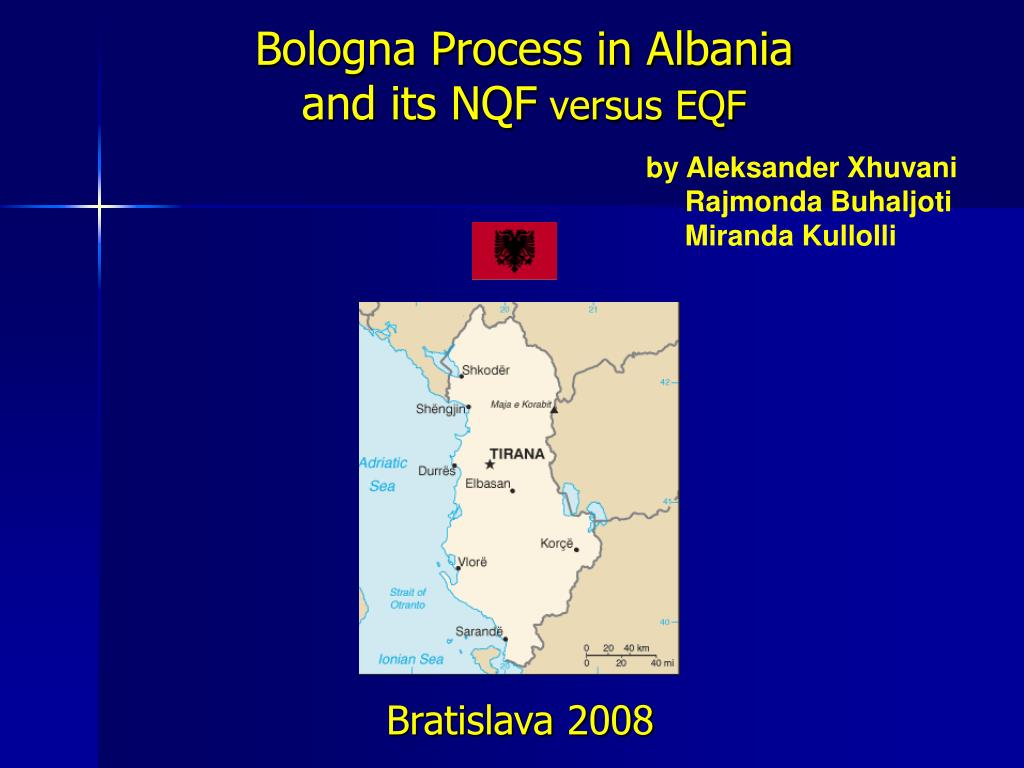 bologna process in albania and its nqf versus eqf l.