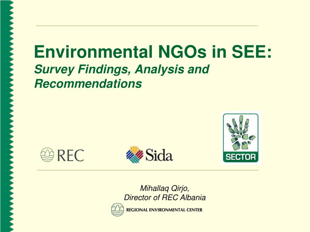 environmental ngos in see survey findings analysis and recommendations
