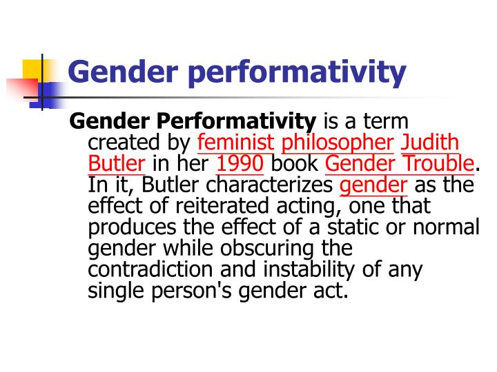 gender performance definition