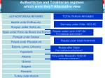 authoritarian and totalitarian regimes which were they alternative view