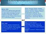 authoritarian regimes and totalitarianism totalitarian regimes and authoritarianism ed 37