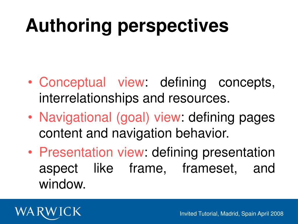 Authoring perspectives
