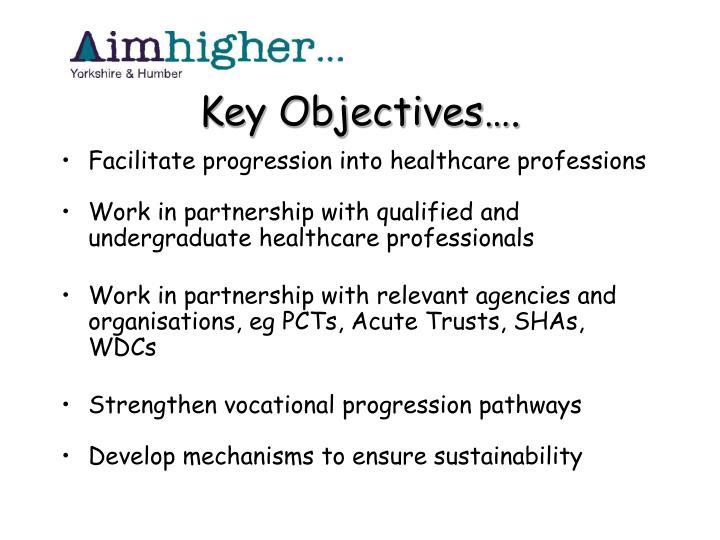 Key Objectives….