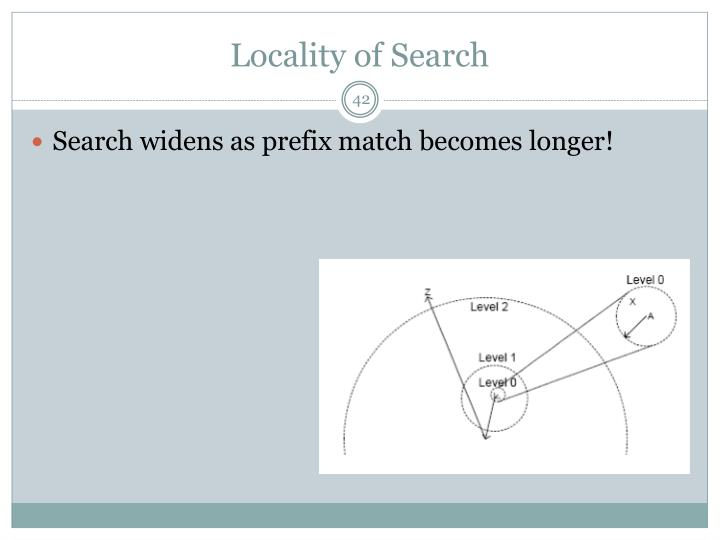 Locality of Search
