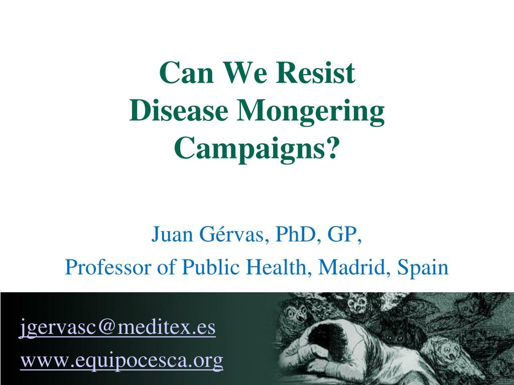 juan g rvas phd gp professor of public health madrid spain jgervasc@meditex es www equipocesca org