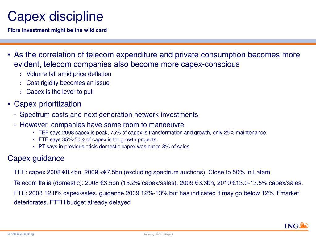 Capex discipline