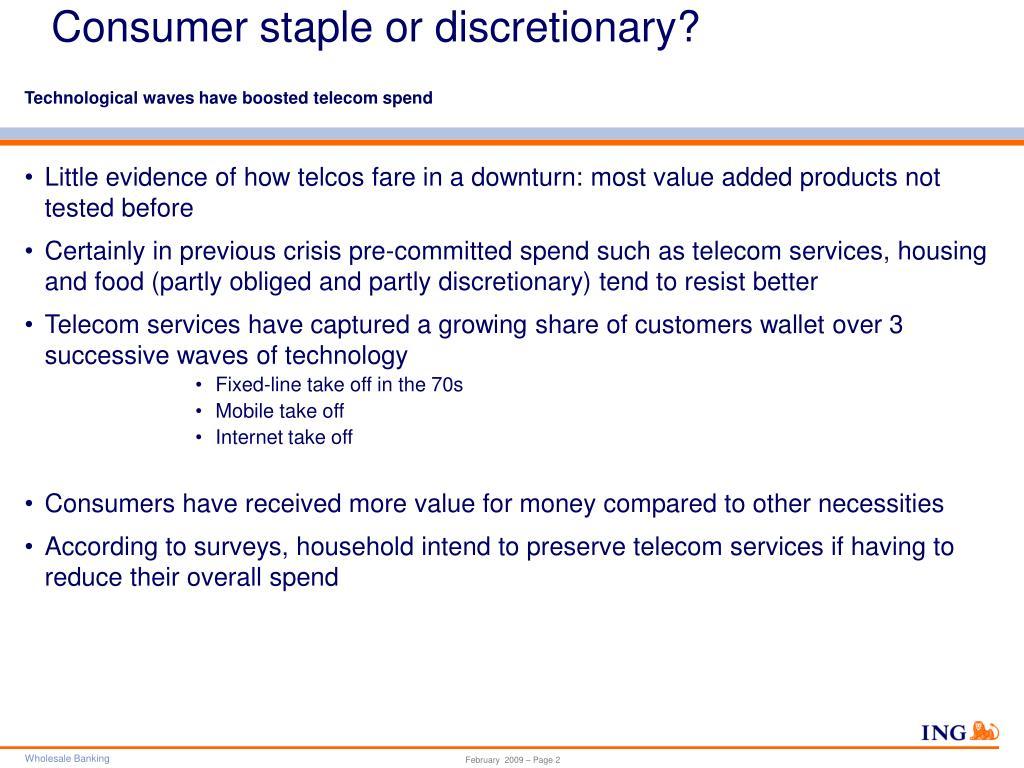 Consumer staple or discretionary?