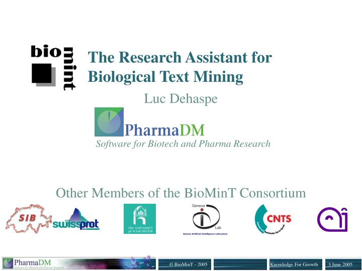 the research assistant for biological text mining