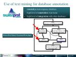 use of text mining for database annotation