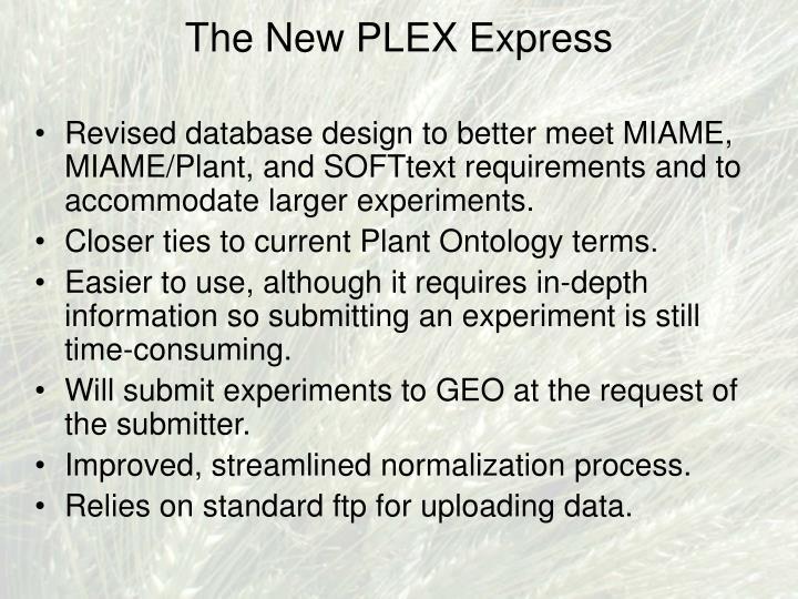 The New PLEX Express