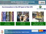 eco innovation in the eip part of the cip