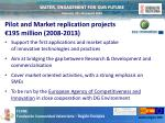 pilot and market replication projects 195 million 2008 2013