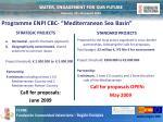 programme enpi cbc mediterranean sea basin