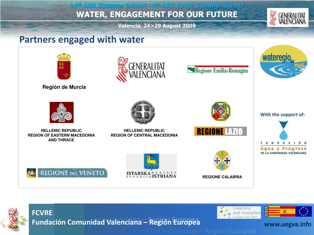 Partners engaged with water