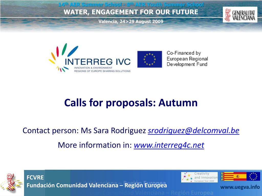 Calls for proposals: Autumn