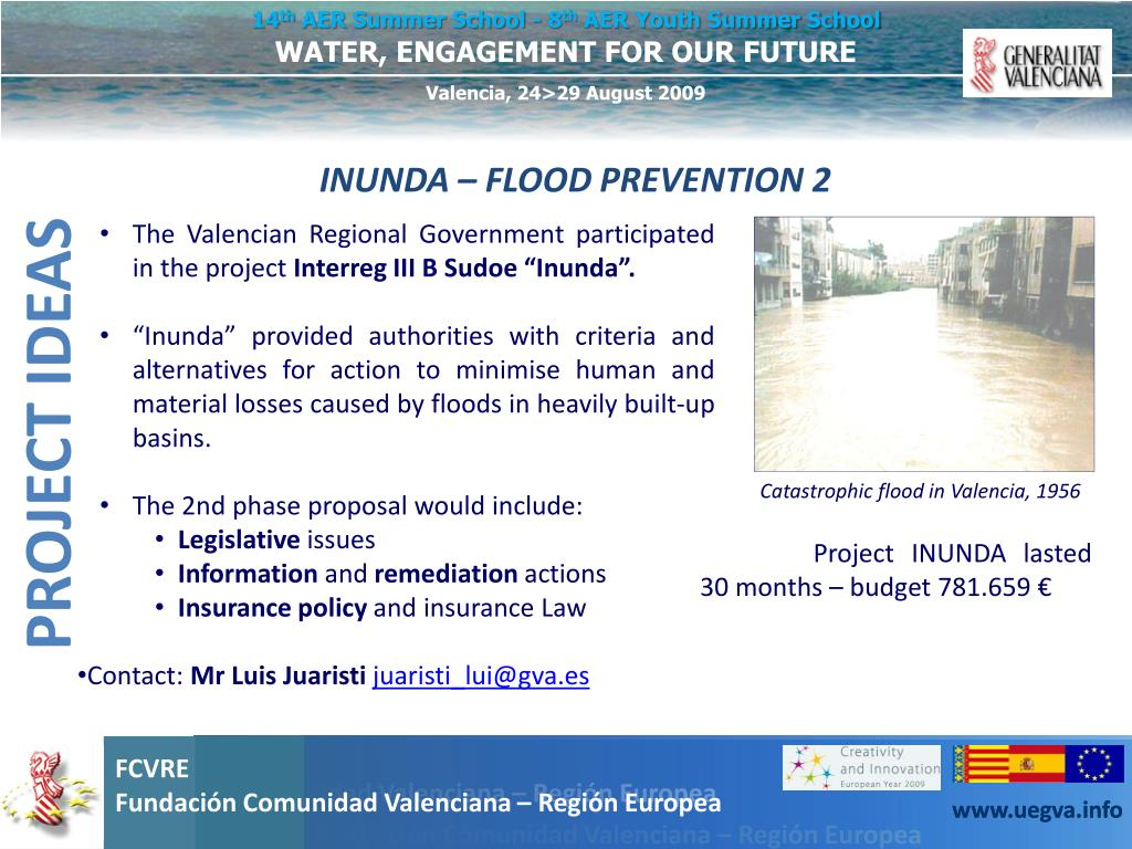 INUNDA – FLOOD PREVENTION 2