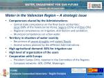 water in the valencian region a strategic issue