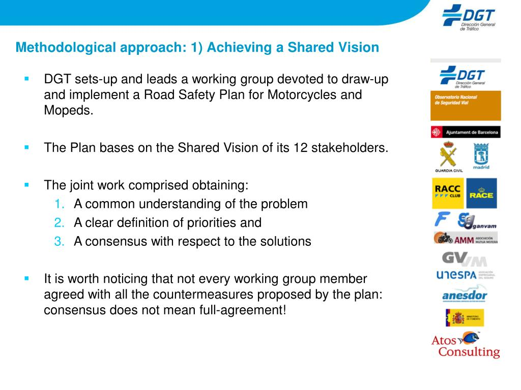 Methodological approach: 1) Achieving a Shared Vision